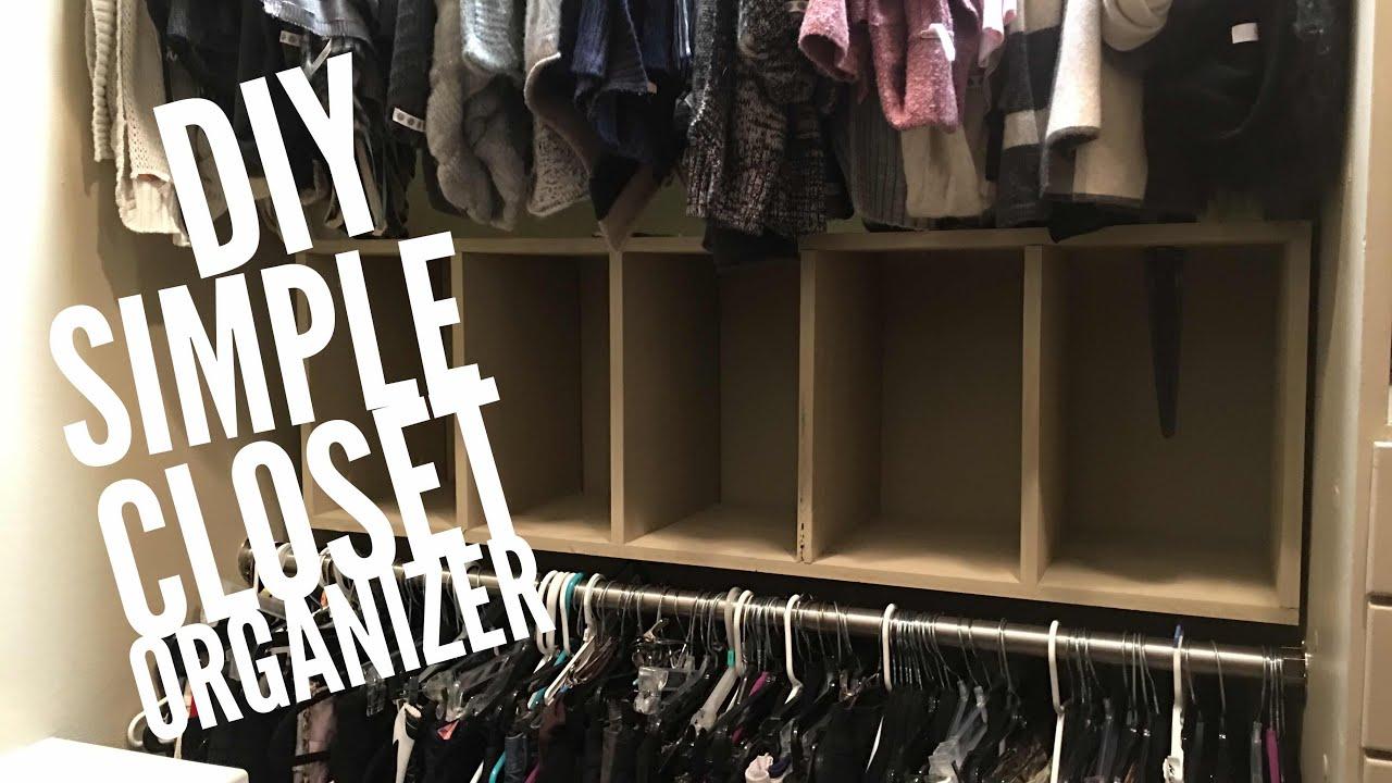 Delicieux Diy Simple Closet Organizer