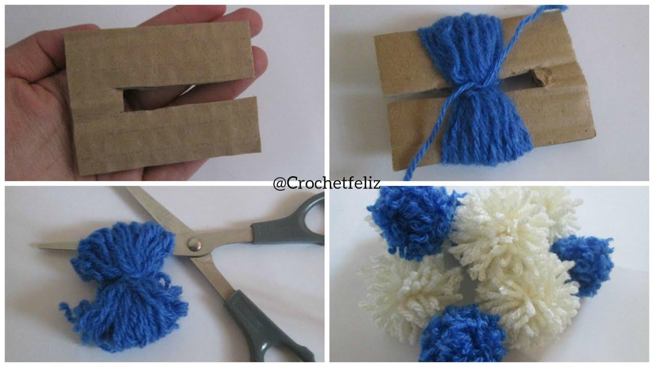C mo hacer un pom pom f cil r pido y pr ctico youtube - Como hacer pompones de lana rapido ...