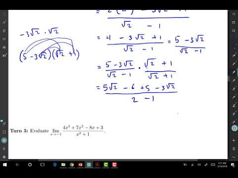 lsomali Calculus 1 darsiga 5 Limits of Polynomial and Rational Functions
