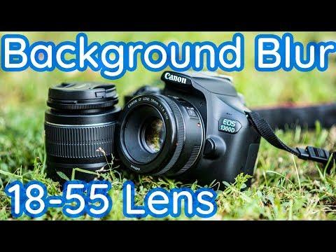 Canon 1300D + 18-55 se kaise background blur karein