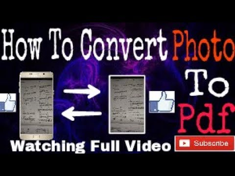 How To Convert Photo/Jpg To Pdf (Within 1-2 Min)
