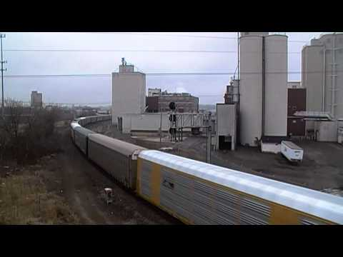 Amtrak & Canadian National Trains at Battle Creek, MI - 3/21/2015