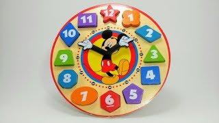 Aprender os Números com o Relógio do Mickey | Como Ensinar as Crianças a Contar os Números