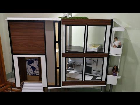 Modern Barbie House | DIY | Dollhouse | Transformation Slideshow | World Of Doll Crafts