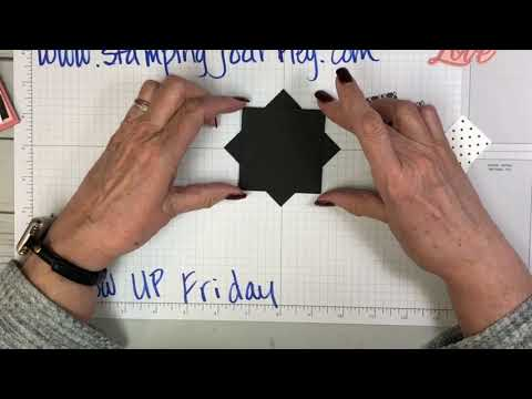 Happy New Year!  Here's today's Follow Up Friday showing you how to make a Pinwheel card!
