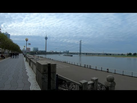 Walking in Düsseldorf 🌥️ | Germany - 4K60