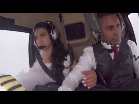 Así fue el trágico accidente de un helicóptero que llevaba a una novia a su boda