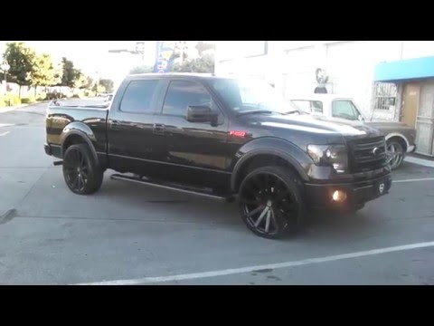 877-544-8473 26 Inch Velocity VW12 All Black Wheels 2014 Ford F150 Rims Free Shipping Call Us!
