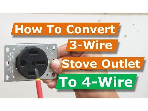 How To Convert 3 Wire to 4 Oven/Electric Range Electrical Outlet - YouTubeYouTube