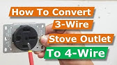 How to hook up a 3 or 4 wire electric range cord By How-to ...  Wire Stove Wiring Diagram on