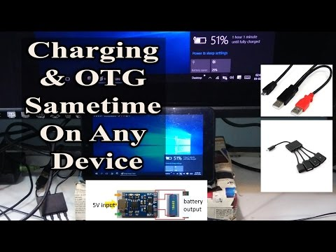 MICRO USB OTG HOST And Charging Same Time (simultaneously) On Android/ Windows✔