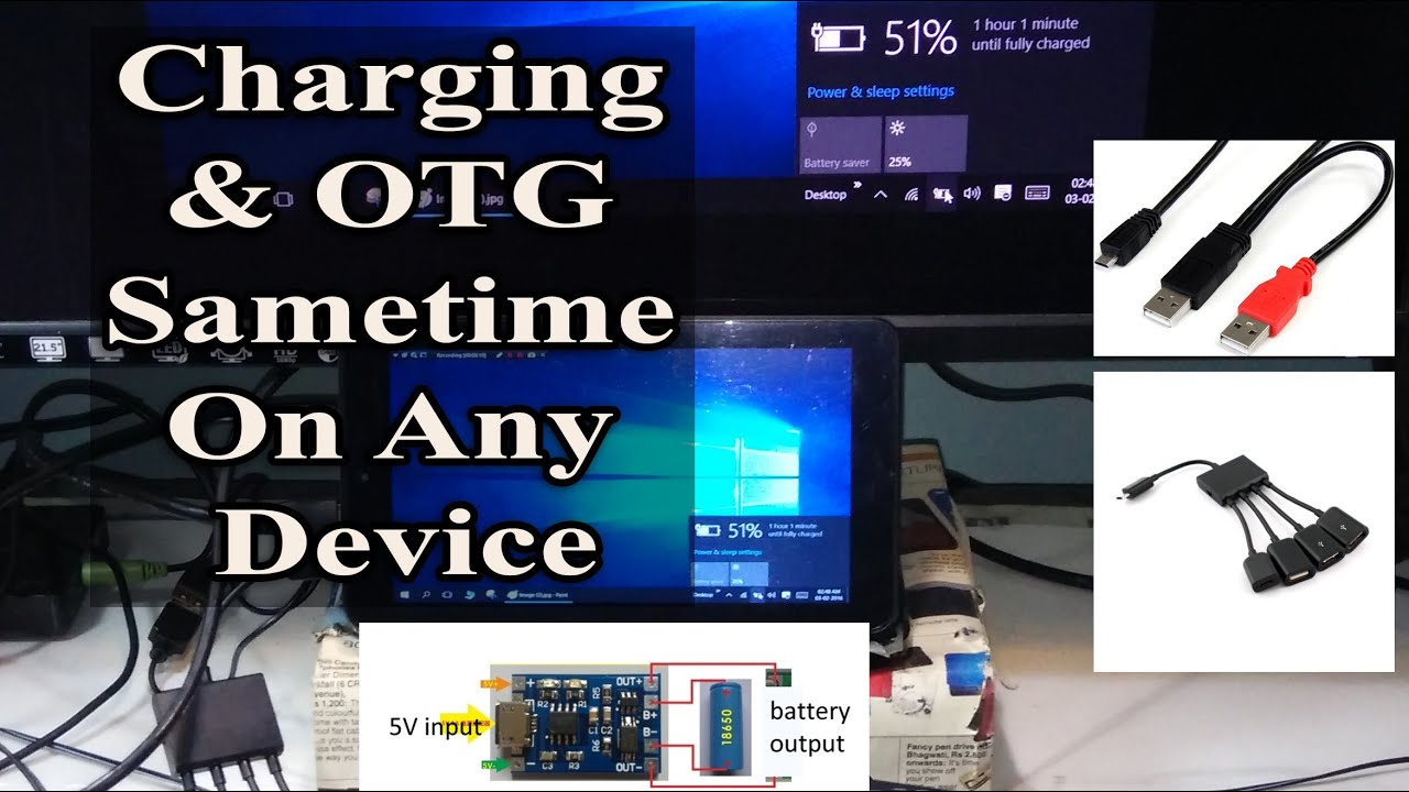Micro Usb Otg Host And Charging Same Time Simultaneously On Wiring Android Windows Youtube
