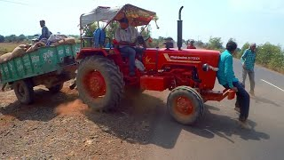 Kirloskar Tractor 1980 Model | Mahindra Di 575 with multicrop thresher