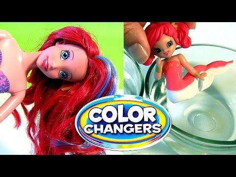 Meerjungfrauen Farbwechsel Puppen Arielle die Meerjungfrau  YouTube