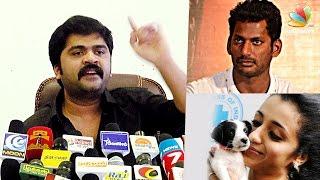Simbu face Media on PETA supporting Stars, Who Are Anti Jallikattu | Trisha, Vishal | Angry Speech