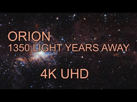 4K | ORION - Travel in Time (1350 Light Years Away)