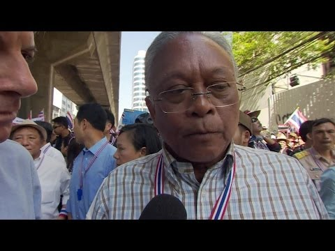 'CIVIL WAR WON'T HAPPEN' SAYS THAI PROTEST LEADER SUTHEP THAUGSUBAN - BBC NEWS