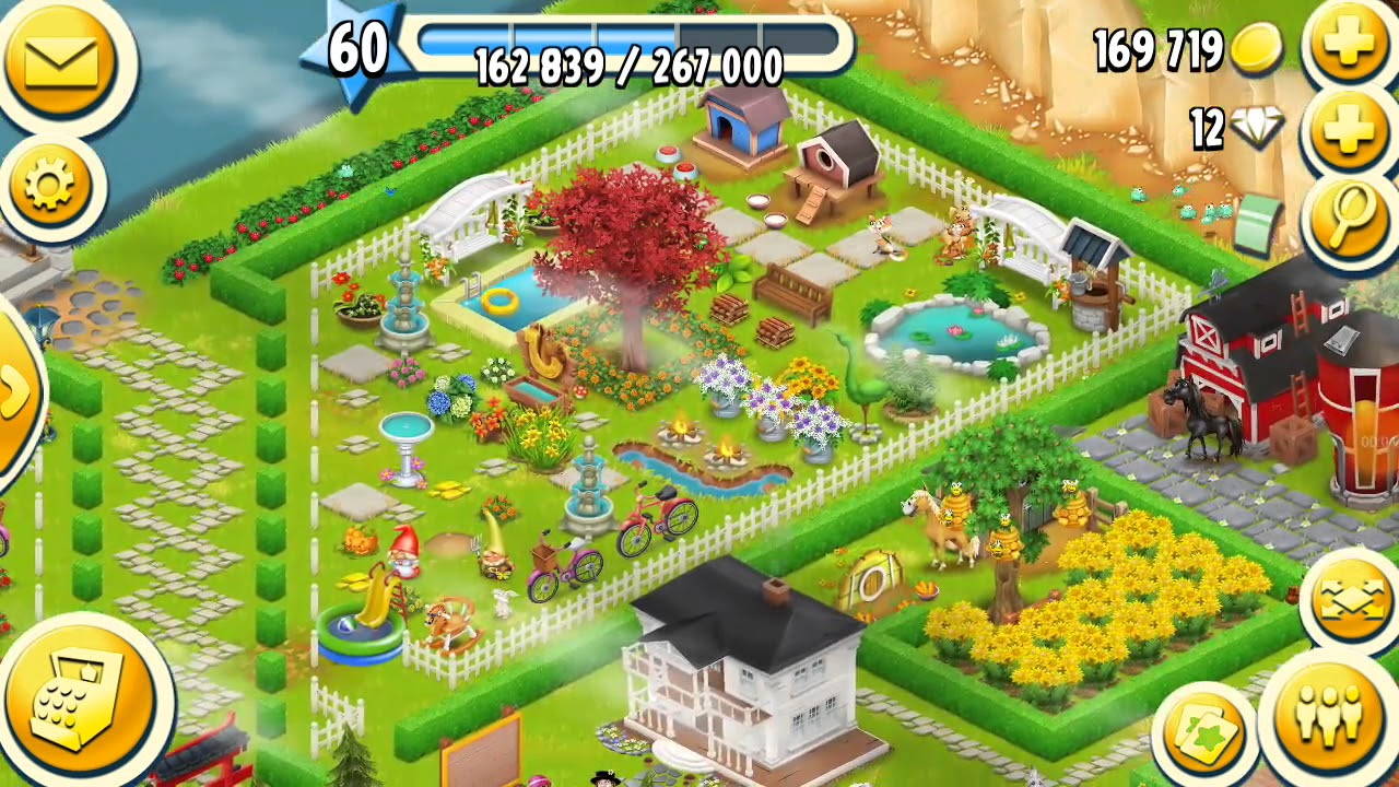 Hay Day Beautiful Farm Layout 1 Youtube