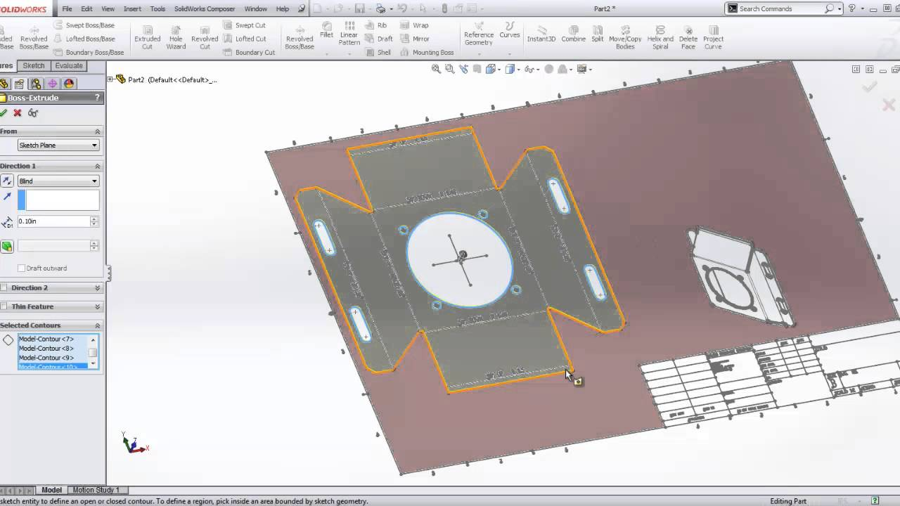 Solidworks Sheet Metal 2d To 3d Youtube