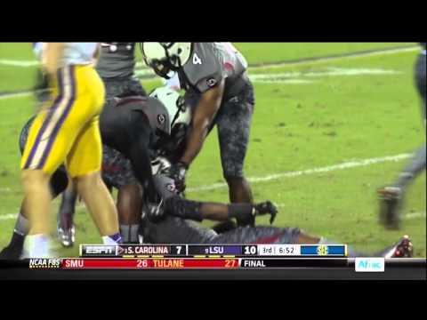 2012 USC vs LSU - Ace Sander 50 Yd Punt Return