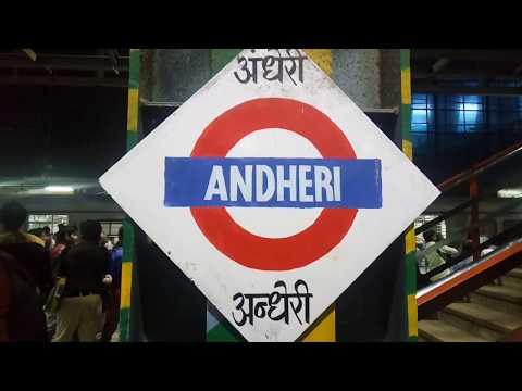 Mumbai local train Andheri station central railway
