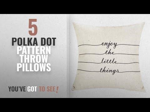 Top 10 Polka Dot Pattern Throw Pillows [2018]: Patterns Print Throw Pillow Cover Sham Case