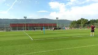 Entrenamiento del Athletic en Lezama Sin los Internacionales Íñigo Martínez, Unai Simon y Unai Núñez