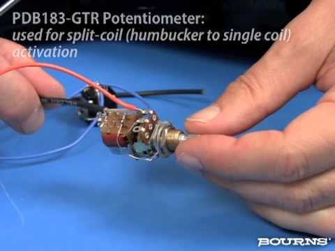 Bourns Push-Pull Switch Guitar Application - YouTube