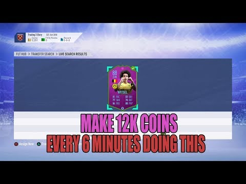 MAKE 12K COINS EVERY 6 MINUTES WITH THIS INSANE SNIPING FILTER.... - FIFA 19 TRADING thumbnail