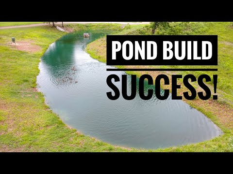 FISHING POND BUILD HOLDS WATER!!!  -POND UPDATE-
