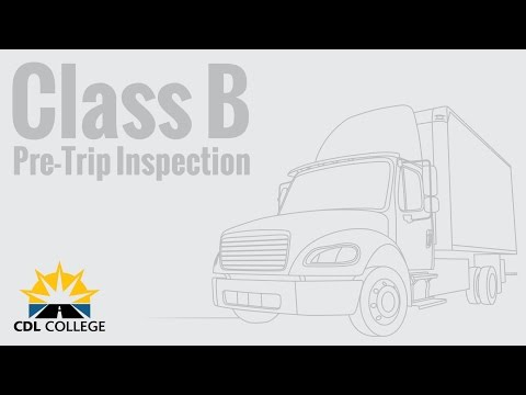 🎬 TRUCK DRIVER STUDENTS! Class B Pre Trip Inspection