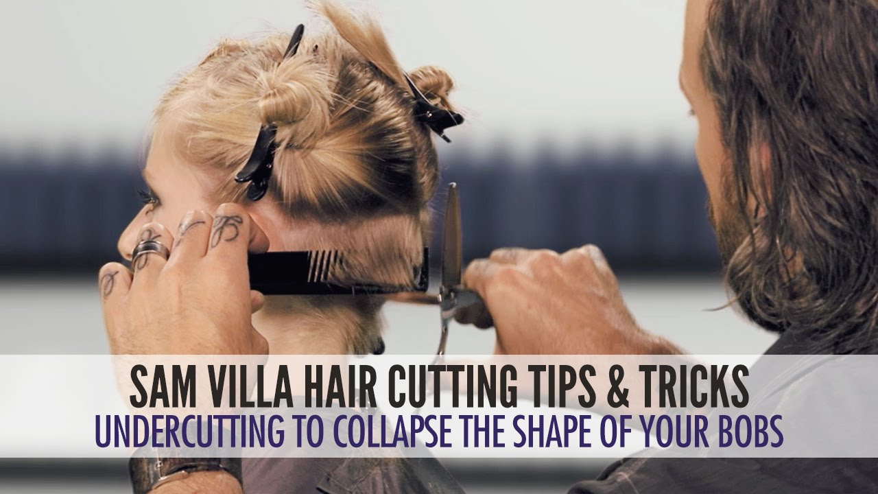 undercut technique to collapse the shape of your bob haircuts: cutting  difficult hairlines