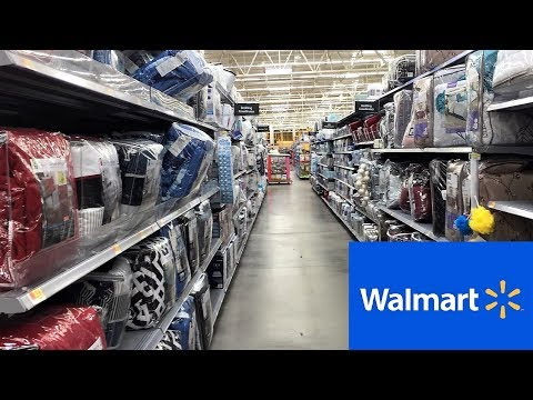WALMART BEDDING BEDS BEDROOM FURNITURE HOME DECOR - SHOP WITH ME SHOPPING STORE WALK THROUGH 4K