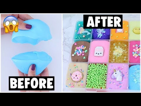 18 EXTREME SLIME PALETTE MAKEOVERS! *fixing my 2 year old slime