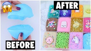 18 EXTREME SLIME PALETTE MAKEOVERS fixing my 2 year old slime