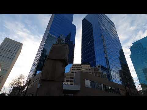 Edmonton, Alberta - walking in Downtown - 1 [4K]