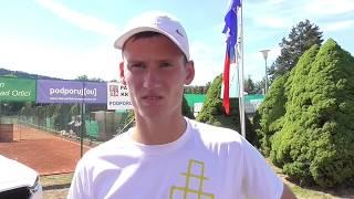 David Poljak po vítězství v osmifinále Rieter Open Ústí nad Orlicí 2018