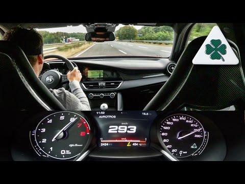Alfa Romeo Giulia QV Quadrifoglio AUTOBAHN ACCELERATION & SOUND by AutoTopNL