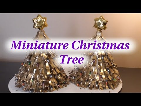 DIY~Make Miniature Christmas Tree Table Toppers~From Party Hats & Paper Rolls