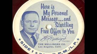 B. R. Mellinger - Here Is My Personal Message (19??) Thumbnail
