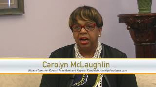 Carolyn McLaughlin, Albany Common Council President and Mayoral Candidate on #SCENETV