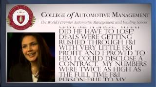Automotive Career Training Testimonials - College of Automotive Management