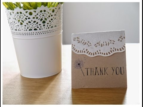 DIY: Quick & Easy Rustic Bohemian Wedding Thank You Cards - YouTube