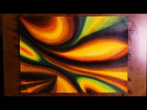 Easy modern abstract painting with pastel colors