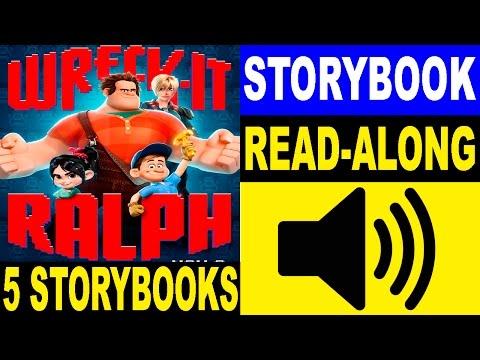 5 Wreck-It Ralph Read Along Storybooks | Read Aloud Books for Kids | 5 Wreck-It Ralph Story books