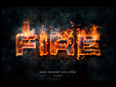 Fire text effect in photoshop tutorial   photoshop cc tutorial.