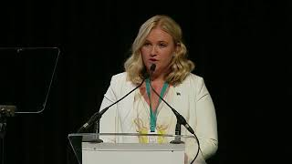 Jessica Dewhurst speaks at The World Summit of Nobel Peace Laureates  | The Justice Desk
