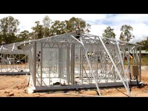 Queensland Steel House Frames - YouTube