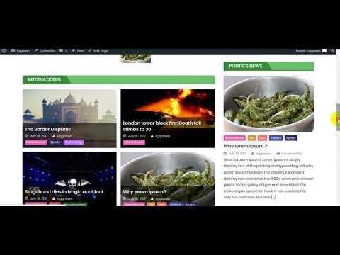 How to setup home page on eggnews WordPress theme ?