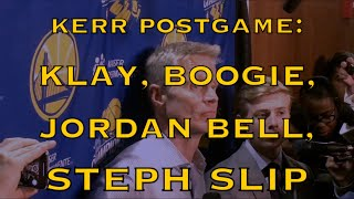 Entire KERR postgame: Klay's 17-for-20 + 10-for-11, Jordan Bell